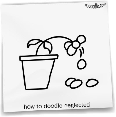 how to doodle neglected small