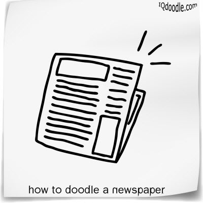 how to doodle newspaper small