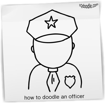 how to doodle officer small