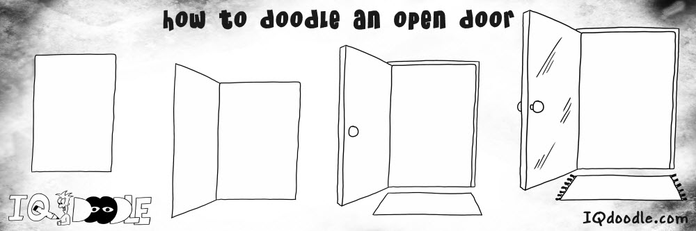 how to doodle open door