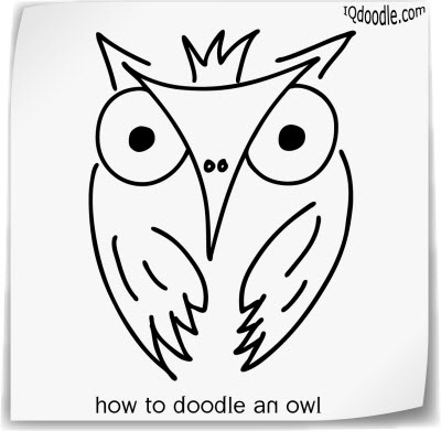 how to doodle owl small
