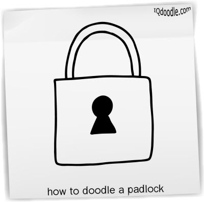 how to doodle padlock small