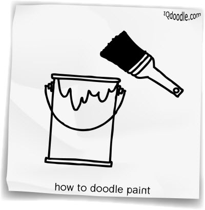 how to doodle paint small