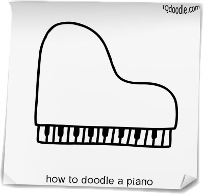 how to doodle piano small