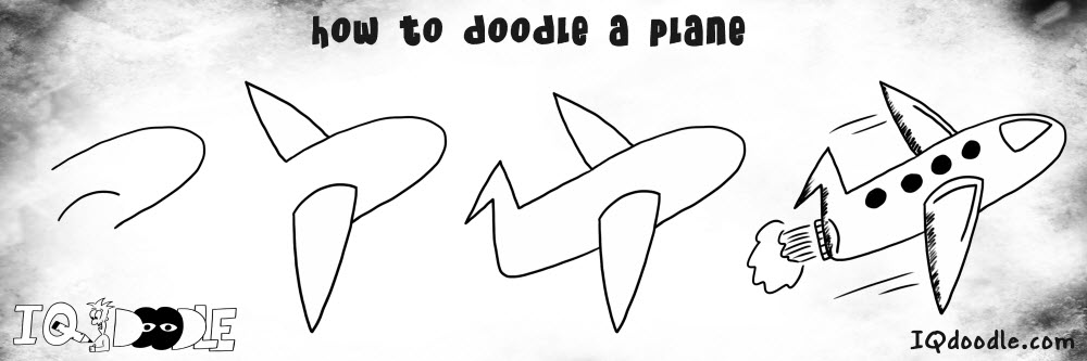 how to doodle plane