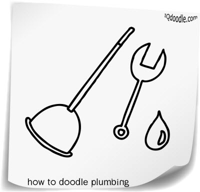 how to doodle plumbing small