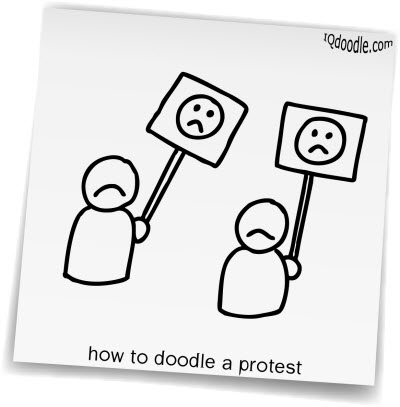 how to doodle protest small
