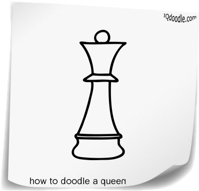 how to doodle queen small