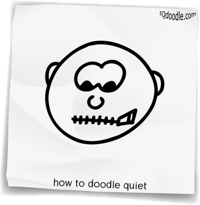how to doodle quiet small