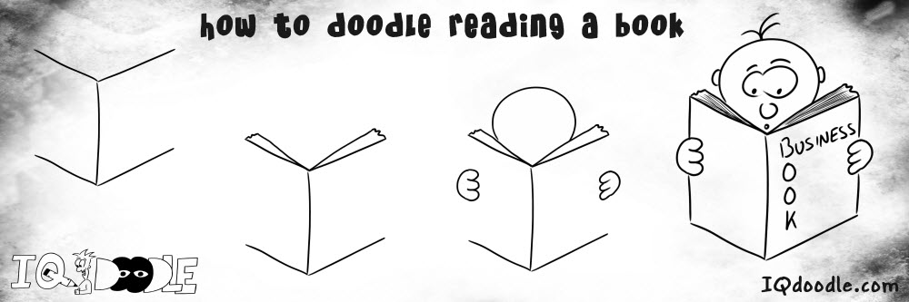 how to doodle reading book