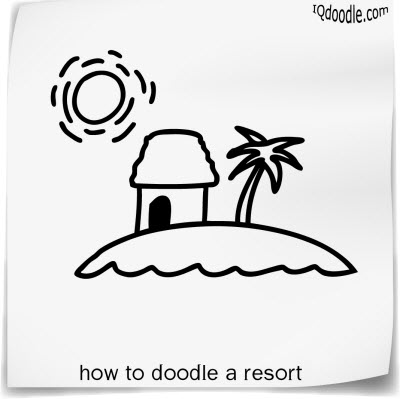 how to doodle resort small