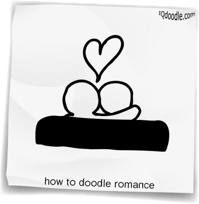 how to doodle romance small