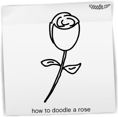 how to doodle rose small