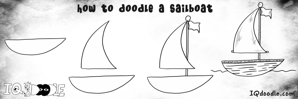 how to doodle sailboat