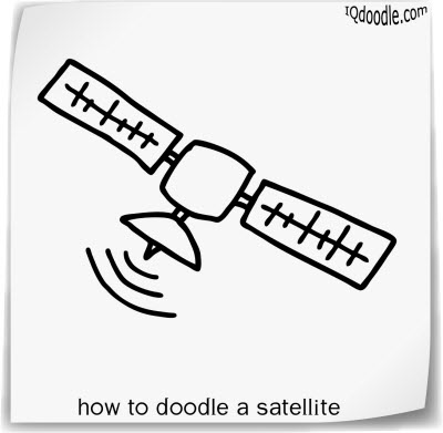how to doodle satellite small