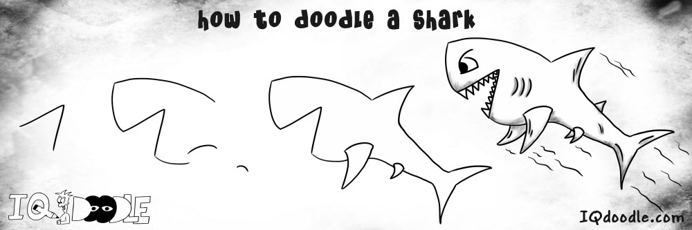 how to doodle shark