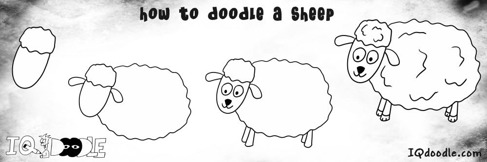 how to doodle sheep