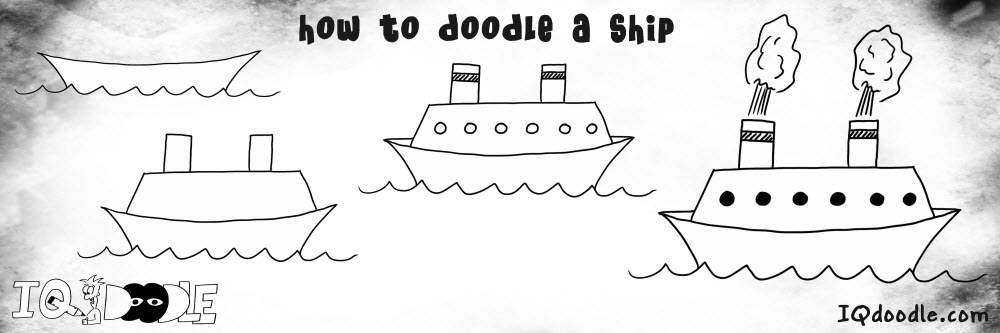 how to doodle ship