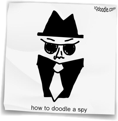 how to doodle spy small
