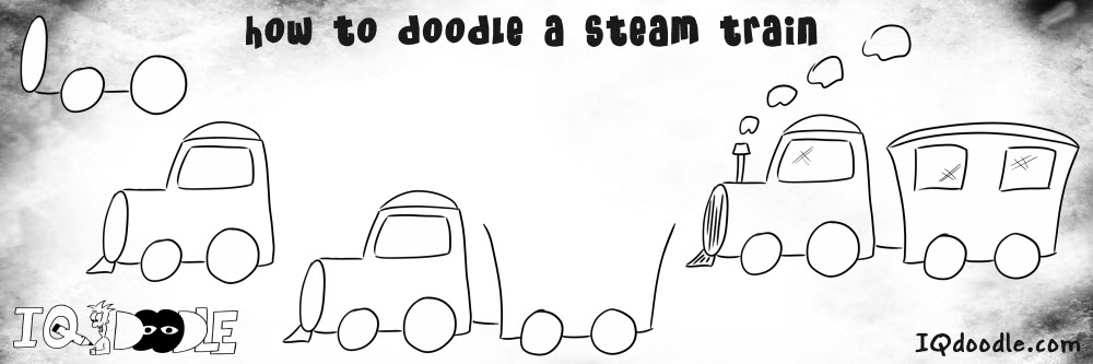 how to doodle steam train