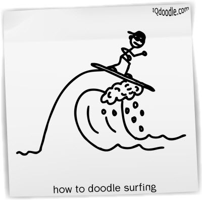 how to doodle surfing small
