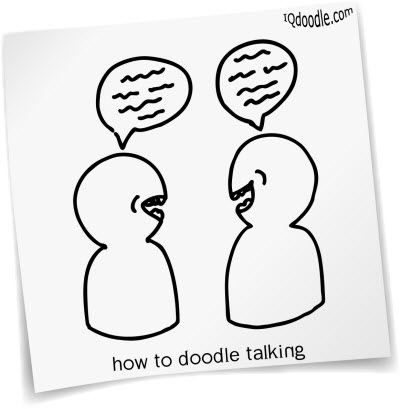 how to doodle talking small