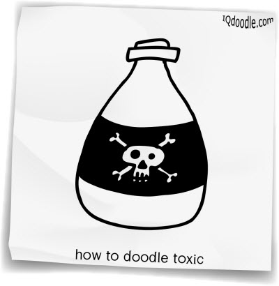 how to doodle toxic small