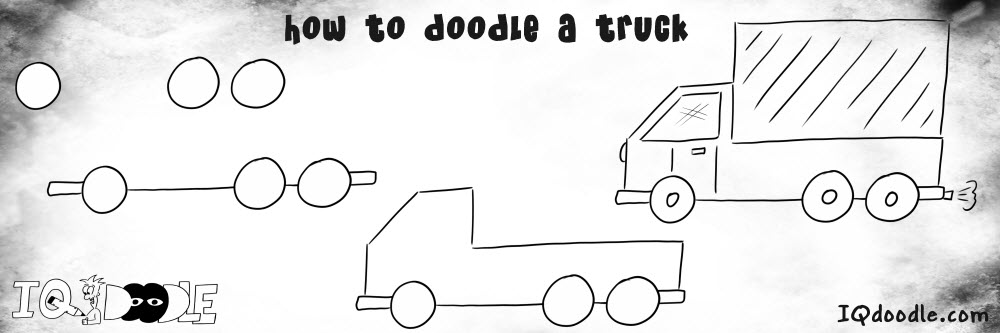 how to doodle truck