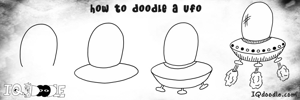 how to doodle ufo