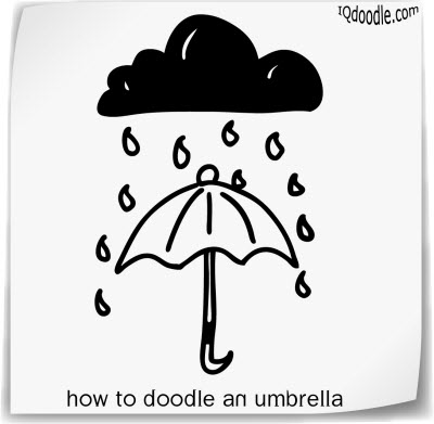 how to doodle umbrella small