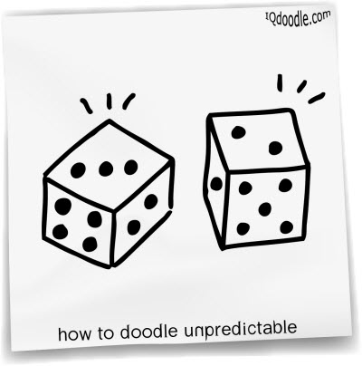 how to doodle unpredictable small