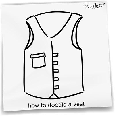 how to doodle vest