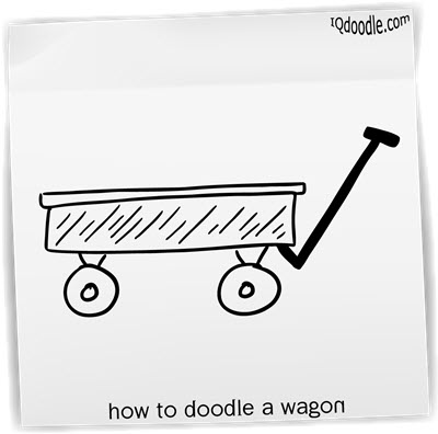 how to doodle wagon small
