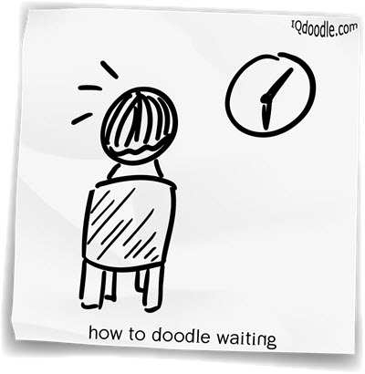 how to doodle waiting small