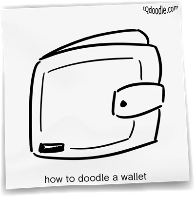 how to doodle wallet small