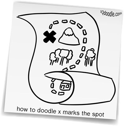 how to doodle x marks the spot small