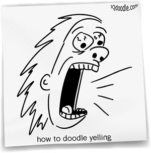 how to doodle yelling small