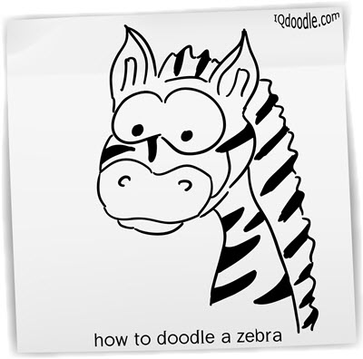 how to doodle zebra small