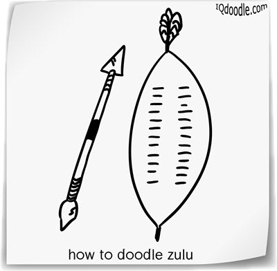 how to doodle zulu small