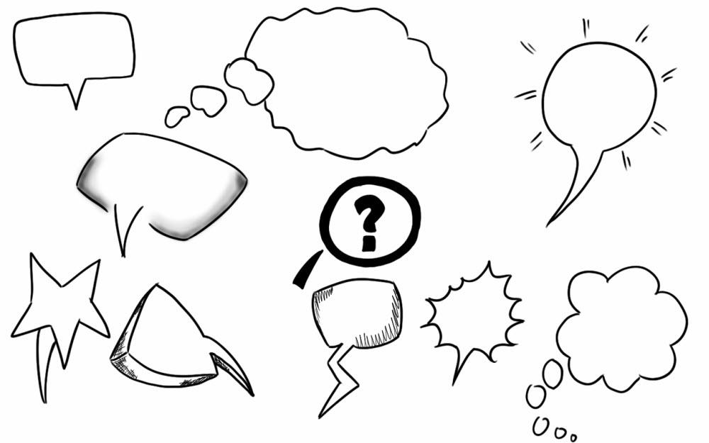speech bubbles doodle