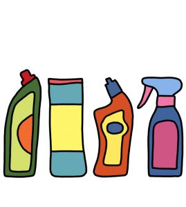 How to Doodle Cleaning Products