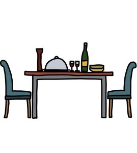 How to Doodle Dining Table and Chairs