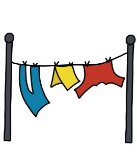 How to Doodle Home Clothes Hanging on Clothesline