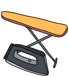 How to Doodle Iron and Ironing Board
