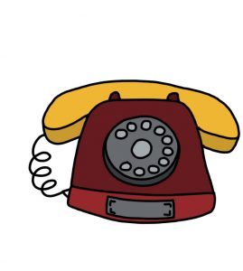 How to Doodle Old Telephone