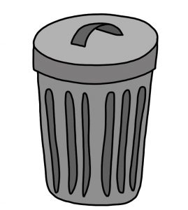 How to Doodle Rubbish Bin