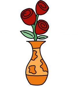 how to doodle Flower in Vase