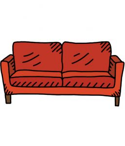 how to doodle couch