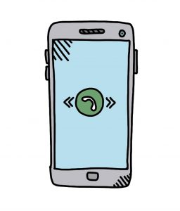how to doodle mobile phone