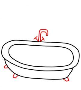 How to Doodle Bathtub 03